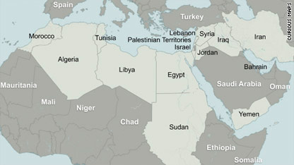 Unrest in the Middle East and North Africa  country by country