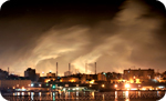 Cityscape-night-air-pollution