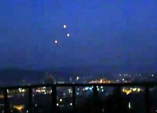 UFO Sighting Caught Emitting Bright Colours, UFO Sighting News