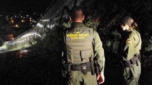 US Border Patrol agents Colleen Agle (R)